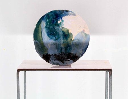 """""""Stellstück – Landschaft"""" schuf Werner Neuwirth 2018 und zeigt es in der Ausstellung """"Sezession hoch n"""". (© Darmstädter Sezession)"""