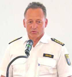 Polizeipräsident Stefan Müller. ©  Foto:   v Goddenthow