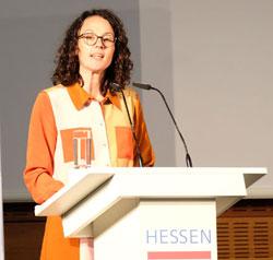 Kunst- und Kulturministerin Angela Dorn.©  Foto: Diether  v Goddenthow