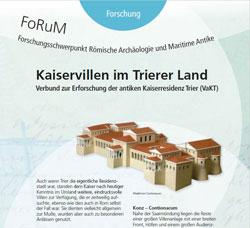 """Schwerpunkt Forschung: """"'Kaiservillen im Trierer Land"""" © RGZM"""