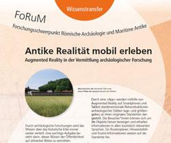 """Schwerpunkt Wissenstransfer: Antike Realität mobil erleben"""" © RGZM"""