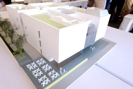 Modell des Museum Reinhard Ernst an der Wilhelmstrasse 1.©  Foto: Diether  v Goddenthow
