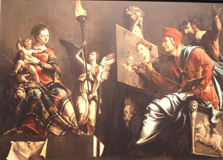 Maarten van Heemskerck (1498 - 1574) Der heilige Lukas malt die Madonna, 1532.  ©  Foto: Diether  v Goddenthow