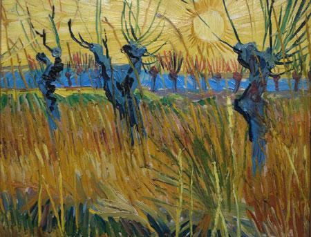 Vincent Van Gogh. Weiden bei Sonnenuntergang. 1888, Öl auf Leinwand auf Karton. © Foto: Diether v Goddenthow