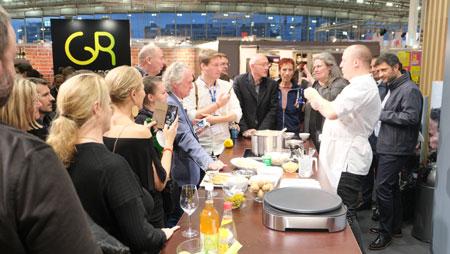 Gourmet Gallery bei  Bookfest: NOCTURNE mit norwegischen Spezialitäten. © Foto: Diether v Goddenthow