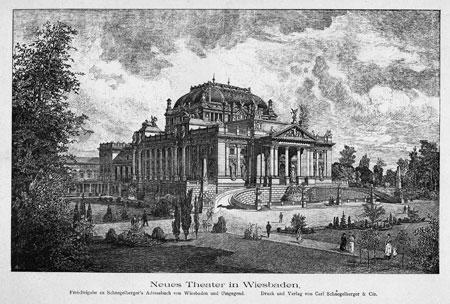 Neues Königliches Theater 1884 © Hessisches Landesarchiv/Hessisches Hauptstaatsarchiv Wiesbaden