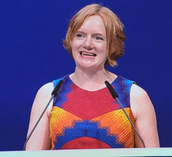 Lliterarische Rednerin Erika Fatland. © Foto: Diether v Goddenthow
