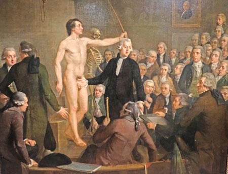 Adriaan de Lelie (1755 - 1820) Anatomie-Vorlesung in der Gesellschaft Felix Meritis, 1792. ©  Foto: Diether  v Goddenthow