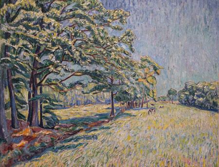 Sommerlandschaft (1917) von dem heute weitgehend vergessenen Maler Theo von Brockhusen. © Foto: Diether v Goddenthow