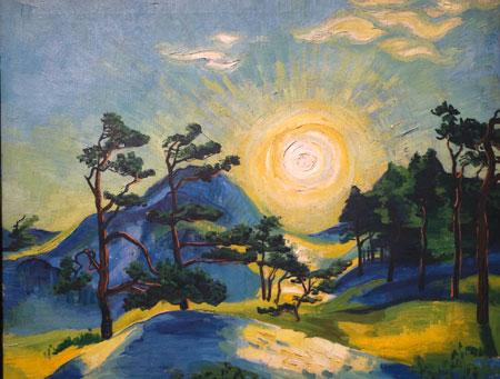Max Pechstein: Aufgehende Sonne (1933). © Foto: Diether v Goddenthow