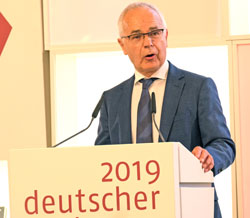Heinrich Riethmüller, Vorsteher des Börsenvereins des Deutschen Buchhandels.© Foto: Diether v Goddenthow