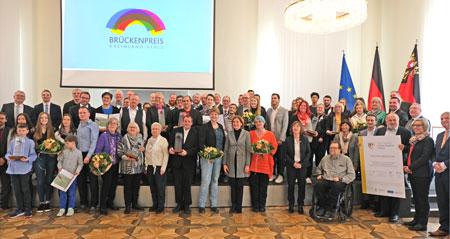 Verleihung des Brückenpreises 2019 am 30. November 2019 in der Staatskanzlei Rheinland-Pfalz durch Ministerpräsidentin Malu Dreyer. © Foto: Diether v Goddenthow