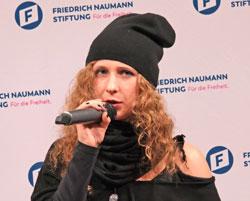 Pussy-Riot-Aktivistin und Künstlerin Marija Aljochina. © Foto: Diether v Goddenthow