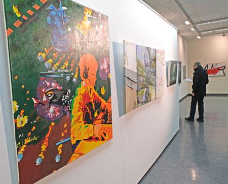 """""""ODYSSEE"""" – Ausstellungseröffnung im MVB-Forum - anlässlich der 28. Verleihung des Eisentumpreises 2019.© Archivbild: Diether v Goddenthow"""