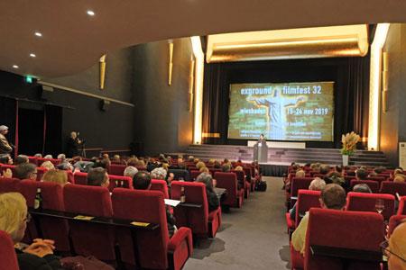 Feierliche Eröffnung des 32. exground filmfestes in der CaligariFilmbühne Wiesbaden, am 15.11.2019.© Foto: Diether v Goddenthow