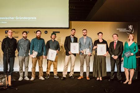 Preisträger 2019 »Gesellschaftliche Wirkung« Hessischer Gründerpreis. Foto: TINA RÖSLER | © HESSISCHER GRÜNDERPREIS