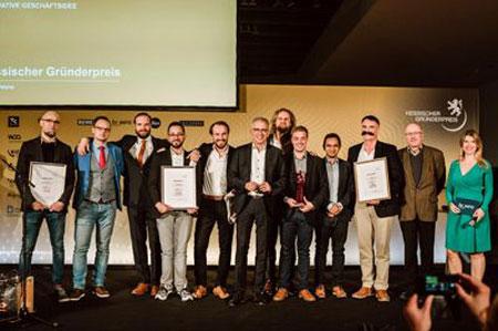 Preisträger 2019 »Innovative Geschäftsidee« Hessischer Gründerpreis. Foto: TINA RÖSLER | © HESSISCHER GRÜNDERPREIS
