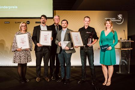 Preisträger 2019 »Zukunftsfähige Nachfolge« Hessischer Gründerpreis. Foto: TINA RÖSLER | © HESSISCHER GRÜNDERPREIS