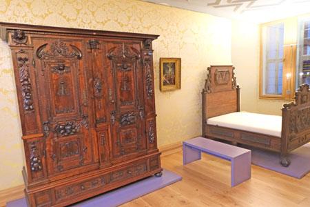 """Die """"Hintere Stube"""" war um 1620 die  Schlafstätte der Töchter des Hauses. © Foto: Diether v Goddenthow"""