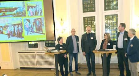 Evelyne Wickop, Projektleiterin von Ökoprofit im Umweltamt zog im Ökoprofit- Talk eine positive Bilanz und zeigte die weiteren Perspektiven des Ökoprofitprojektes in Wiesbaden auf. © Foto: Diether v Goddenthow