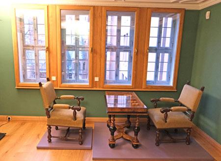 Das Spielezimmer mit Ausbilck direkt auf den Dom.© Foto: Diether v Goddenthow