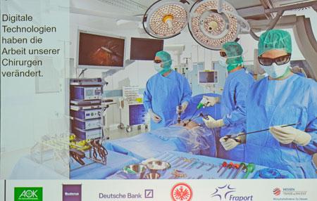 Digitale modere Chirurgie  präsentiert auf dem Hessischen Unternehmertag.