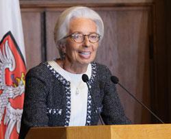 Festrednerin  Christine Lagarde, EZB-Präsidentin.© Foto: Diether v Goddenthow