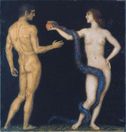 Franz von Suck: Adam und Eva.