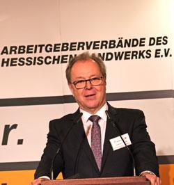 Wolfgang Kramwinkel, Präsident der Arbeitgeberverbände des Hessischen Handwerks (AHH) © Foto: Diether v Goddenthow