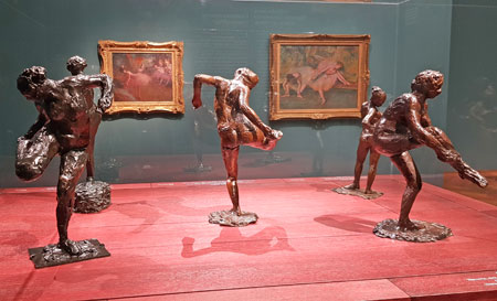 Edgar Degas Impression von Tänzerinnen Skulpturen. © Foto: Diether v Goddenthow