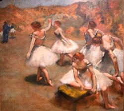 """Edgar Degas """"Tänzerinnen auf der Bühne""""  (ca. 1889). © Foto: Diether v Goddenthow"""
