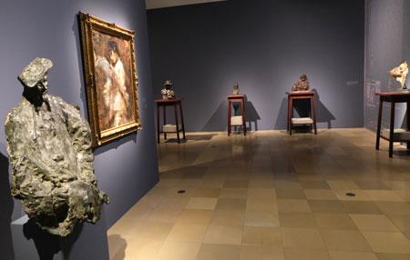 Ausstellungs-Impression Medardo Rosso.  © Foto: Diether v Goddenthow