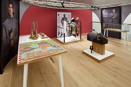 Mitmachstation zum Thema Ritter, Foto Jürgen Vogel, LVR LandesMuseum Bonn