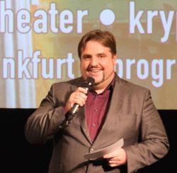 Festivalleiter Urs Spöri Archivbild, Moderation der Preisverleihung beim exground Filmfest 2019 in Wiesbaden  Foto: Diether v. Goddenthow