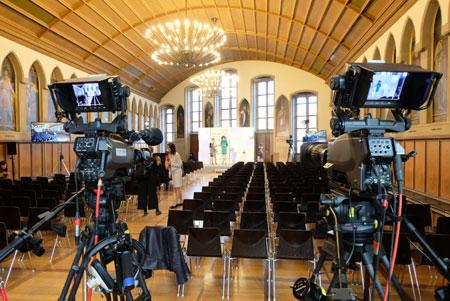 Die Verleihung des Deutschen Buchpreises 2020 erfolgt am 12. Oktober 2020 ohne Publikum als Livesendung aus dem Frankfurter Römer. © Foto: Diether v. Goddenthow