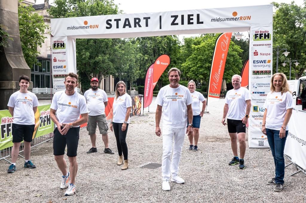 Das Orga-Team von der Wiesbadener Sporthilfe Foto: Axel Ruske