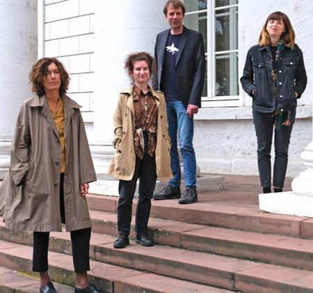 (v.l.): Anne Weber, Deniz Ohde, Bov Bjerg, Dorothee Elmiger.© Foto: Diether v. Goddenthow