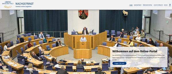 """Das neue Informationsportal """"Nachgefragt"""" des Landtags bietet aktuelle Informationen rund um Gesetzentwürfe. Foto: Landtag Rheinland-Pfalz/Zebralog GmbH & Co KG"""