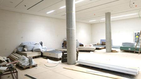 Im besonders gesicherten Wechselausstellungsbereich wird eine 14,5 mal 4 Meter große Vitrinenwand die bedeutendsten Sammlungsstücke aus 168 Jahren Geschichte des Römisch Germanischen Zentral Museums zeigen. © Foto: Diether v. Goddenthow