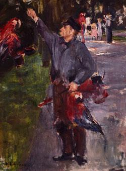 Max Liebermann, Papageinmann, 1900 – 1901, Öl auf Leinwand, Privatbesitz