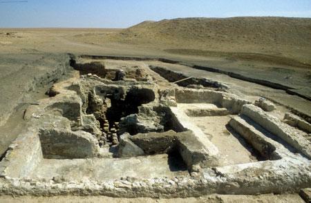 Frühislamische Badeanlage von Kharab Sayyar, Syrien (9. Jh. n. Chr.), Foto: Ausgrabungsprojekt Kharab Sayyar