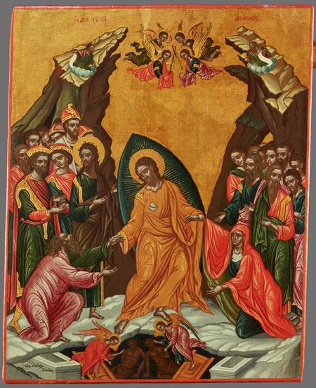 Die Höllenfahrt Christi (Anastasis) / Christ's Descent into Hell (Anastasis) Demetrios Phoskalis Griechenland (Ionische Inseln), um 1710 Eitempera auf Holz. 2021 © lumenphoto.de