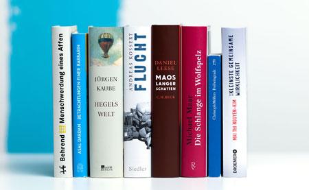 Die nominierten Titel des Deutschen Sachbuchpreises 2021 © vntr-media