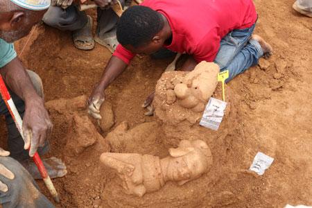 Bekannt ist die Nok-Kultur im heutigen Nigeria für ihre Terrakottafiguren (Foto: Peter Breunig, Goethe-Universität Frankfurt)