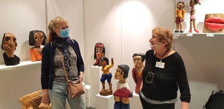Mit Künstlern ins Gespräch kommen. Arte 2020 © Foto Diether v. Goddenthow