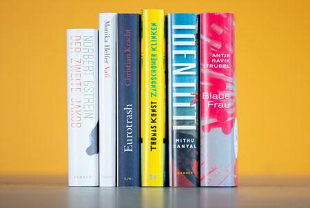 Deutscher Buchpreis 2021: Die Shortlist Die sechs nominierten Titel der Shortlist für den Deutschen Buchpreis 2021 stehen fest. Die Preisverleihung findet am 18. Oktober 2021 im Frankfurter Römer statt. Foto: vntr.media