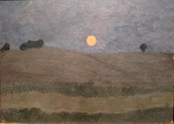 Paula Modersohn Becker. Mond über Landschaft  (1900) © Foto  Diether v Goddenthow