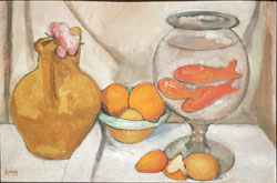 "Paula Modersohn Becker. Stillleben mit Goldfischglas"" (1906) © Foto:  Heike v Goddenthow"