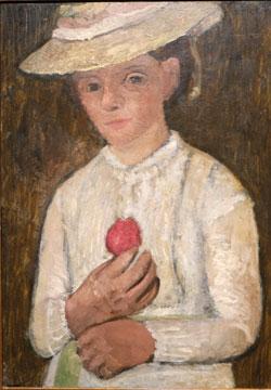 Paula Modersohn Becker: Selbstbildnis mit-Rose (1905)  © Foto  Diether v Goddenthow