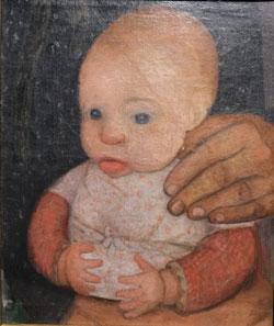 Paula Modersohn Becker. Säugling mit der Hand der Mutter (1903). © Foto  Diether v Goddenthow